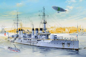 86504 Корабль French Navy Pre-Dreadnought Battleship Voltaire (Hobby Boss) 1/350