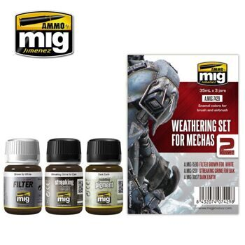 AMIG7429 WEATHERING SET FOR MECHAS