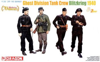 6654 1/35 Ghost Division Tank Crew (Blitzkrieg 1940)