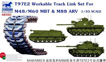 AB3563 1/35 T97E2 Workable Track Link Set For M48/М60