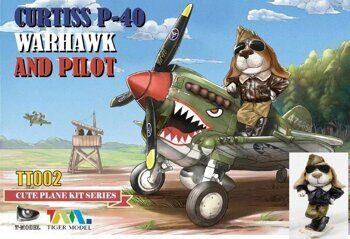 TT002 Curtiss P-40 Warhawk Fighter (фигурка пилота в комплекте)