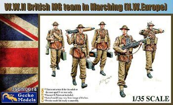 35GM0014 WWII British MG Team in March (N.W.Europe)