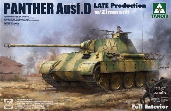 2104 Panther Ausf. D Late Production w/ Zimmerit Full Interior Kit