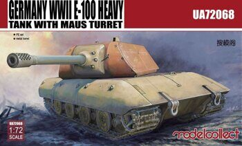 UA72068 Germany WWII E-100 Heavy Tank With Mouse Turret