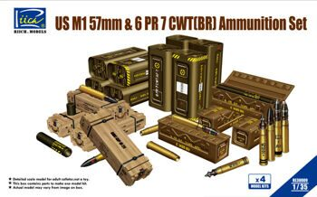 RE30009 1/35 US M1 57mm & 6PR 7cwt (BR) Ammunition Set (Model kits x4)