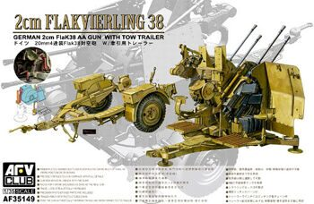 AF35149 2cm Flakvierling 38 with tow traile