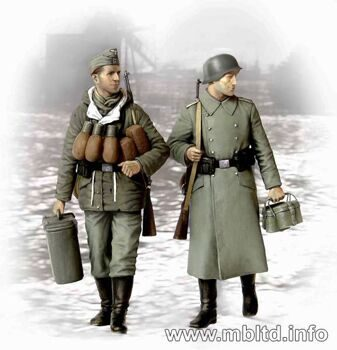 MB3553  Supplies, at last! German soldiers, 1944-1945