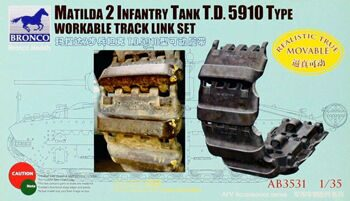 AB3531 MATILDA 2 infantry tank t.d 5910 type workable track link set