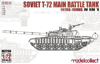UA72194 Soviet T-72 Main Battle Tank 1970s-1990s N in 1