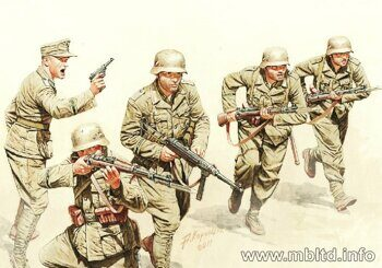 MB3593 WWII German Infantry, DAK