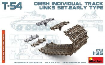 MA37046 T-54 OMSh Individual Track Links Set. Early Type