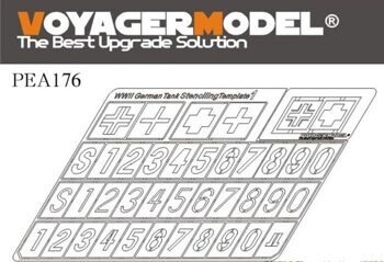 PEA176 1/35 WWII German Tank Stenciling Template 1 (For all)