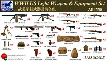 AB3558 WWII US Light Weapons & Equipment Set
