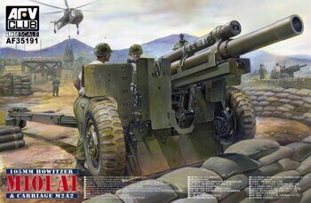 AF35191 1/35 105mm Howitzer M101A1 on Carriage M2A2