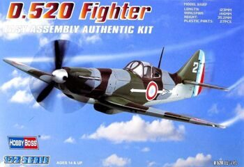80237 Самолет French D.520 Fighter (Hobby Boss) 1/72