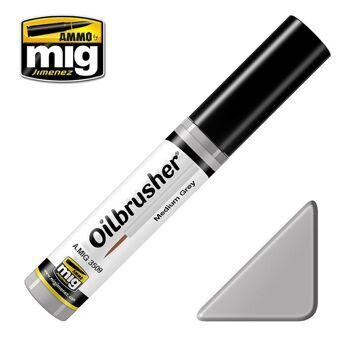 AMIG3509 Ammo Mig Oilbrusher MEDIUM GREY