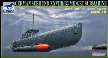 CB35053 German Seehund XXVII B/B5 Midget Submarine /2 options in 1/.