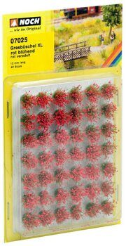 "07025 Grass Tufts XL ""blooming"" red, 42 pieces"