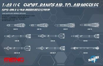 SPS-043 1/48 U.S. SHORT-RANGE AIR-TO-AIR MISSILES