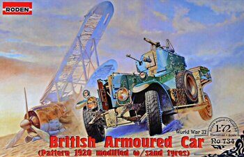 ROD734 British Armoured Car Pattern 1920 Mk.II (modified with sand tyres)