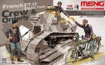 HS-005 1/35 FRENCH FT-17 LIGHT TANK CREW & ORDERLY