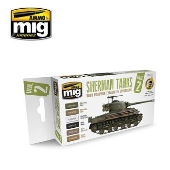 AMIG7170 Set Sherman Tanks Vol. 2 (WWII European Theater of Operations)