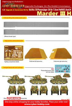 3837 Upgrade and conversion kit for Marder III H