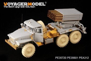PE35720 Modern Russian BM-21 Grad Multiple Rocket Launcher Late Basic(For TRUMPETER 01013)