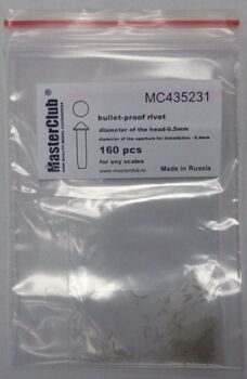 MC435231 cone-head  bullet-proof rivet, diameter of the head-0.5mm; diameter of the aperture for ins