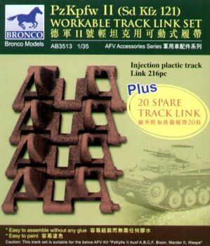 AB3513 PzKpfw II workable track link set