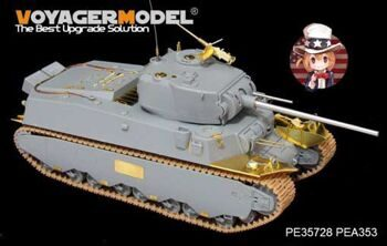 PE35728 WWII US M6 Heavy Tank ( Gun barrel? Atenna base Include?(For DROGON 6789)