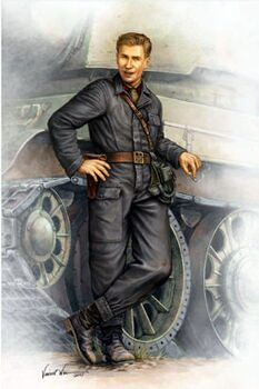 00701 1/16 WWII Soviet Army Tank Crewman in 1942