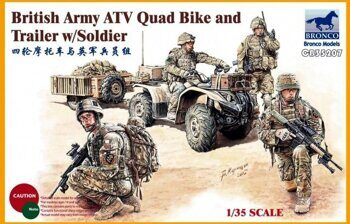 CB35207 1/35 British Army ATV Quad Bike and Trailer w/Soldier