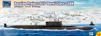 "RL27001 1/700 Russian Project 955 ""Borei"" class SSBN (Model Kits X2)"