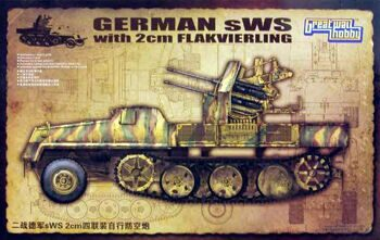 L3525 1/35 WWII German sWS with 2cm Flakvierking Upgrade Set