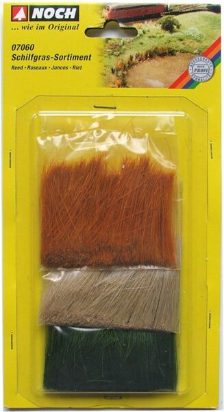 07060 Reed-Assortment green, beige, brown