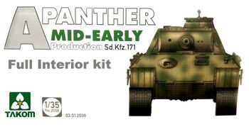 2098 1/35 WWII German medium Tank Sd.Kfz.171 Panther A mid-early production