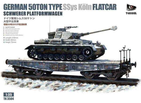 TK3504 German 50T Type SSys Schwerer platormwagen (Tank not include)