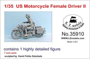 35910 1/35 US MOTORCYCLE FEMALE DRIVER SET2