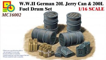 MC16002 1/16  W.W.II German 20L Jerry Can & 200L Fuel Drum Set