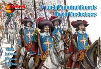 72045  French mounted guards, Royal Musketeers
