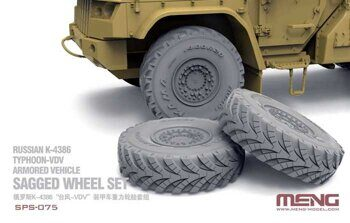 SPS-075 1/35 Russian K-4386 Typhoon-VDV Armored Vehicle Sagged Wheel Set