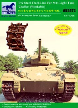 AB3573 1/35 T-72 Track Link (Steel Type) For M24 Light Tank 'Chaffee'