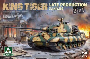 2130 1/35 WWII German Heavy Tank Sd.Kfz.182 King Tiger Late Production 2 in 1