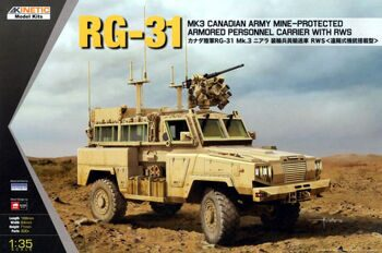 KI-K61010 1/35 RG-31 Mk.3 Canadian Army Mine Protected Armoured Personnel Carrier with RWS
