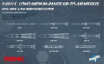 SPS-044 1/48 U.S. LONG/MEDIUM-RANGE AIR-TO-AIR MISSILES