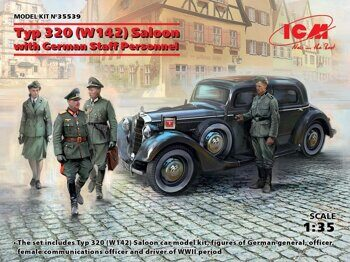 35539 Typ 320 (W142) Saloon with German Staff Personnel 1/35