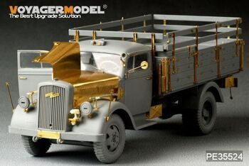 PE35524 1/35 WWII German Opel Blitz 3t. 4x2 Cargo Truck /Shallow Cargo Bay (For DRAGON 6670)