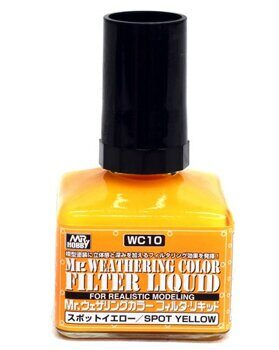 WC10 Mr.Weathering Color  Filter Liquid - Spot Yellow