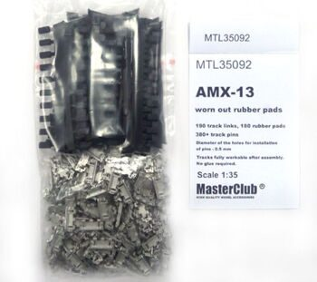 MTL35092 Tracks for AMX13 with rubber pads, worn out /destructed